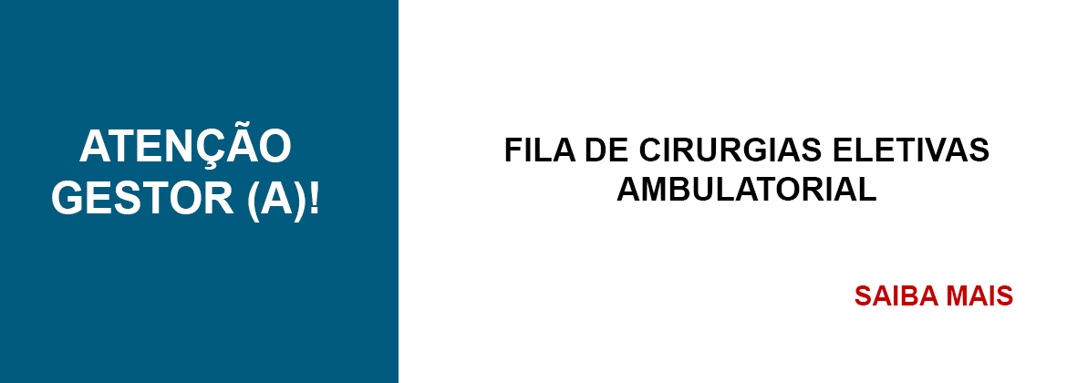 FILA DE CIRURGIAS ELETIVAS AMBULATORIAL