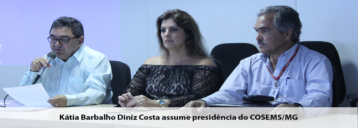 Kátia Barbalho Diniz Costa assume presidência do COSEMS/MG
