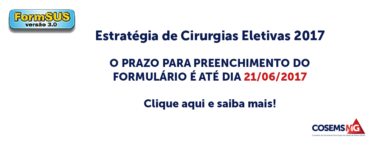 Cirurgias eletivas - FAEC FEDERAL